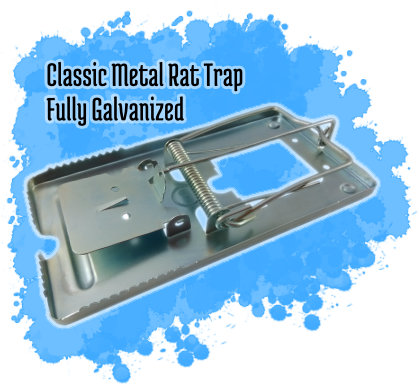 Classic Metal Rat Trap - Fully Galvanized