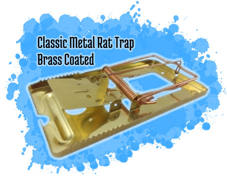 Classic Metal Rat Trap - Brass Coated