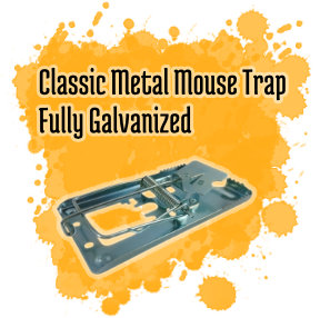 Classic Metal Mouse Trap - Fully Galvanized